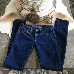 American Eagle Dark Denim Low Waist Skinny Jeans